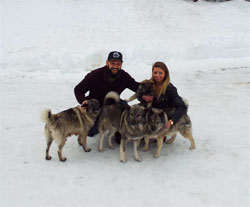 Vuk Meets His New Handlers, Justin and Aleah